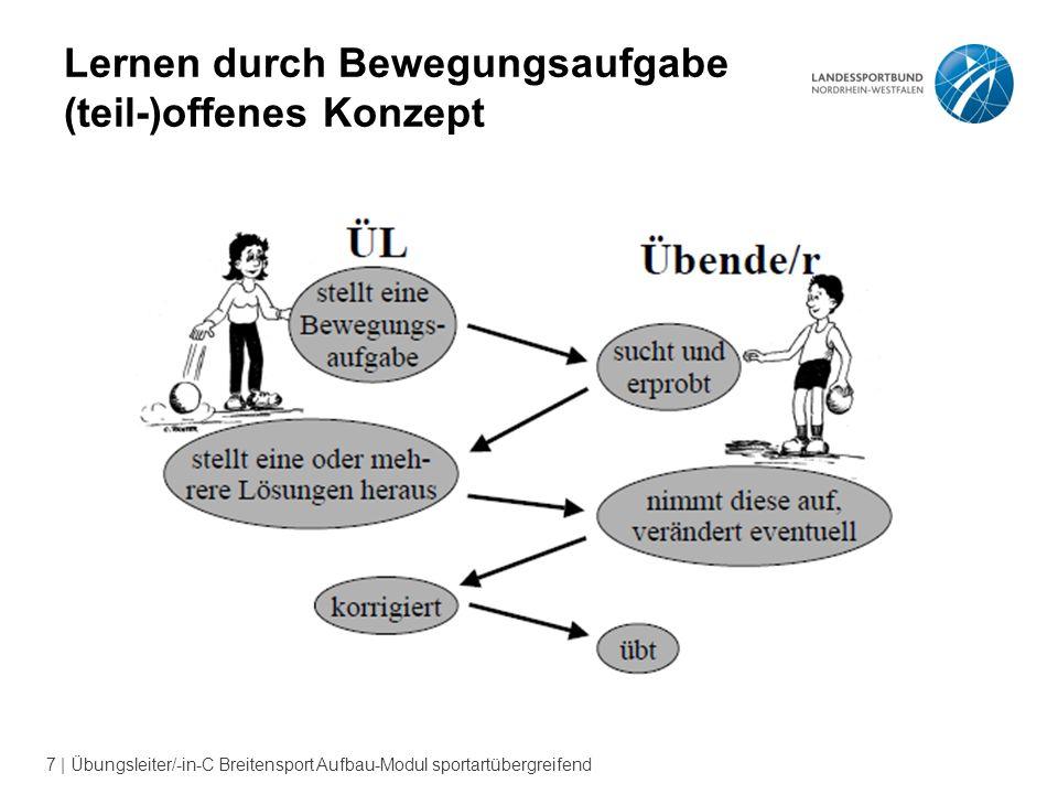 7 | Übungsleiter/-in-C Breitensport Aufbau-Modul sportartübergreifend Lernen durch Bewegungsaufgabe (teil-)offenes Konzept