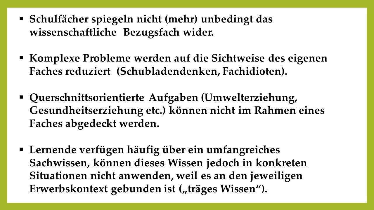 1.Vom Fach ausgehend: Identifikation einer Problemstellung 2.