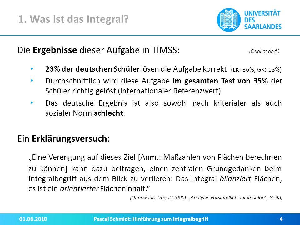 3.Zugänge zum Integralbegriff III. Integration als Rekonstruktion (lat.