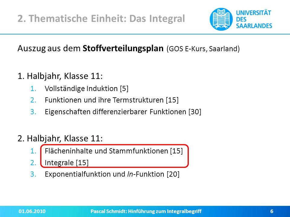3.Zugänge zum Integralbegriff III.