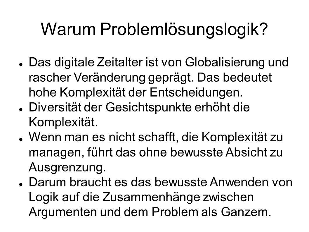 Warum Problemlösungslogik.
