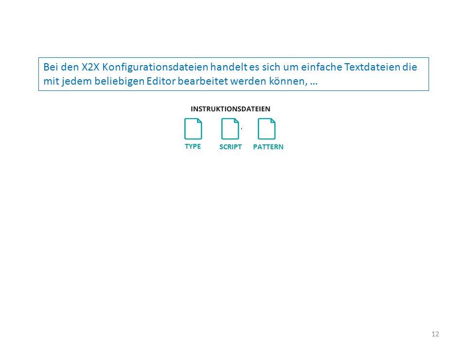 Bei den X2X Konfigurationsdateien handelt es sich um einfache Textdateien die mit jedem beliebigen Editor bearbeitet werden können, … 12