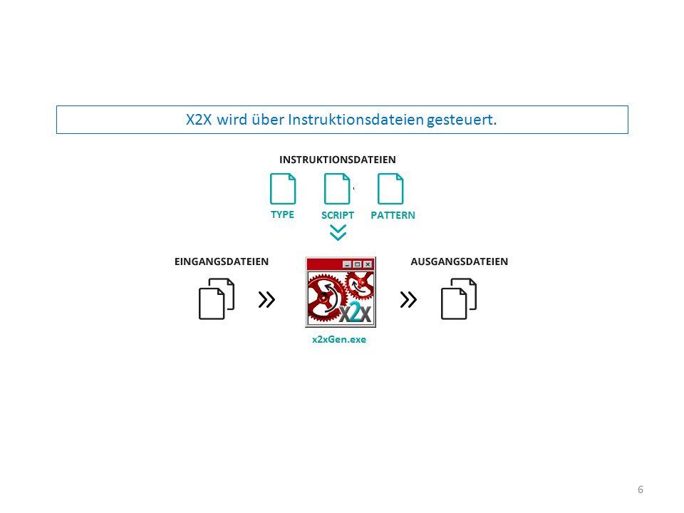 X2X wird über Instruktionsdateien gesteuert. 6
