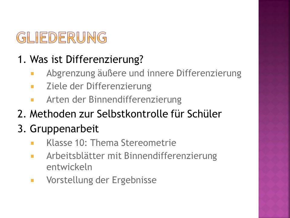 1. Was ist Differenzierung.