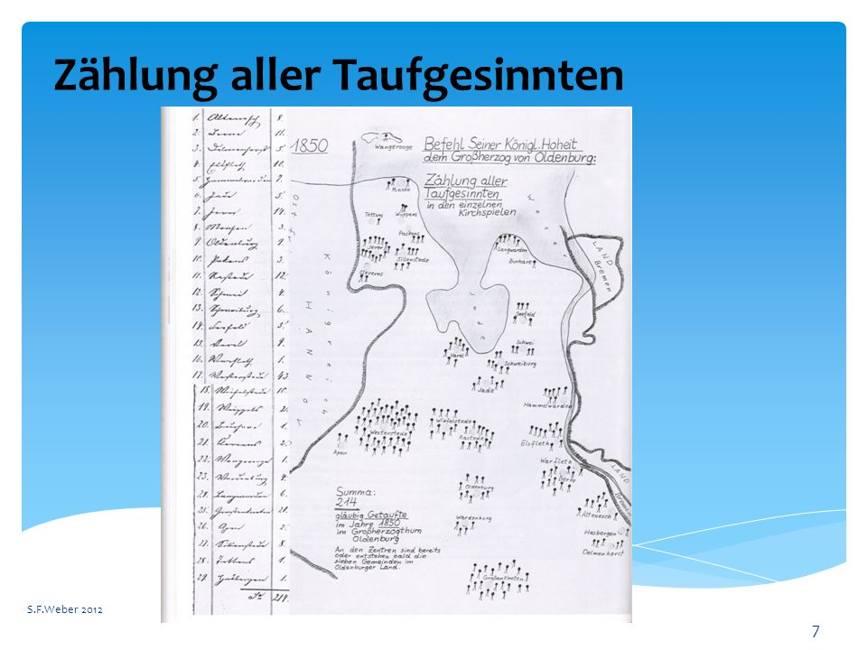 Zählung aller Taufgesinnten S.F.Weber 2012 7