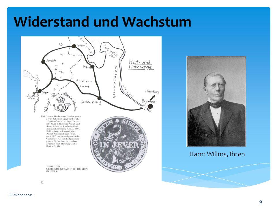 Widerstand und Wachstum S.F.Weber 2012 9 Harm Willms, Ihren