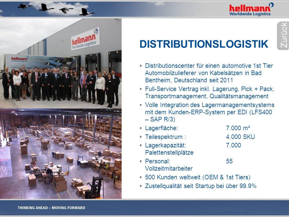 DISTRIBUTIONSLOGISTIK  Distributionscenter für einen automotive 1st Tier Automobilzulieferer von Kabelsätzen in Bad Bentheim, Deutschland seit 2011  Full-Service Vertrag inkl.