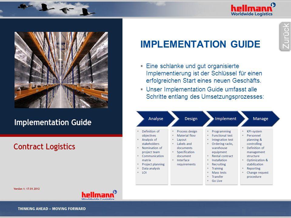 IMPLEMENTATION GUIDE  Eine schlanke und gut organisierte Implementierung ist der Schlüssel für einen erfolgreichen Start eines neuen Geschäfts.