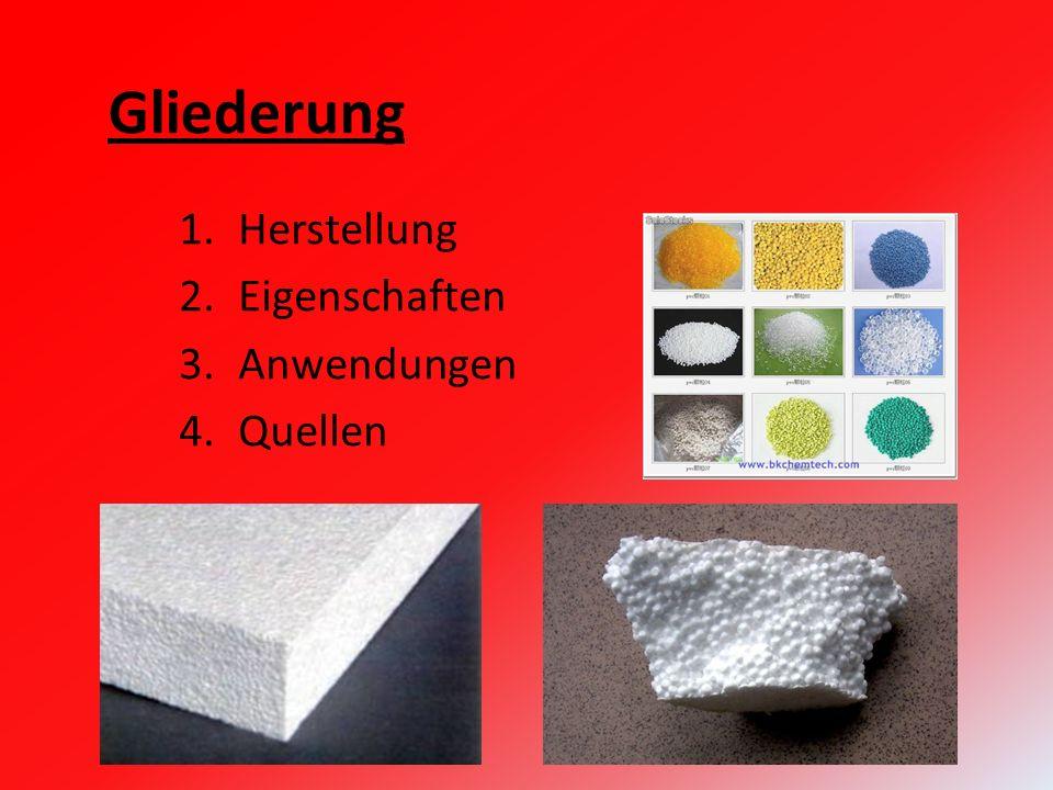 1.Herstellung 2.Eigenschaften 3.Anwendungen 4.Quellen Gliederung