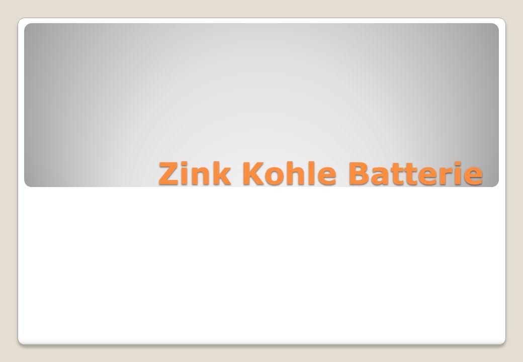 Zink Kohle Batterie