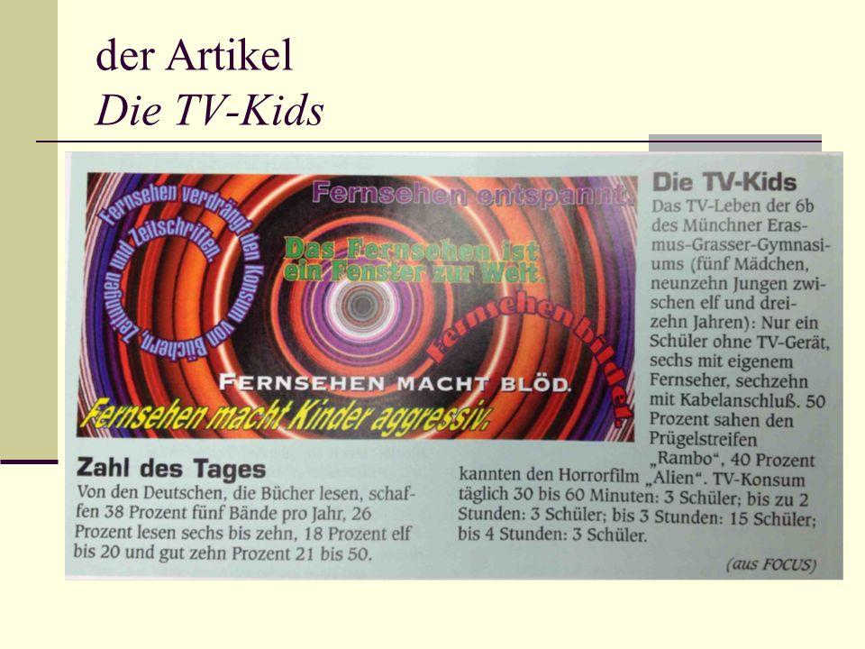der Artikel Die TV-Kids