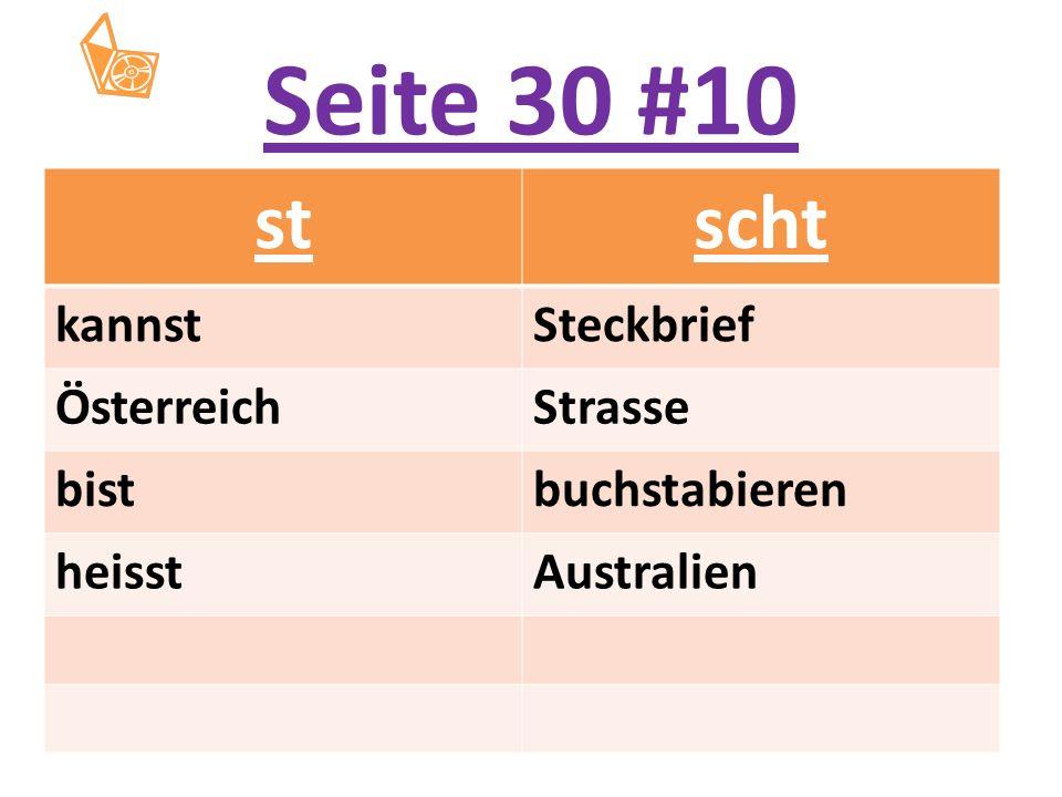 Seite 30 #10 stscht kannstSteckbrief ÖsterreichStrasse bistbuchstabieren heisstAustralien