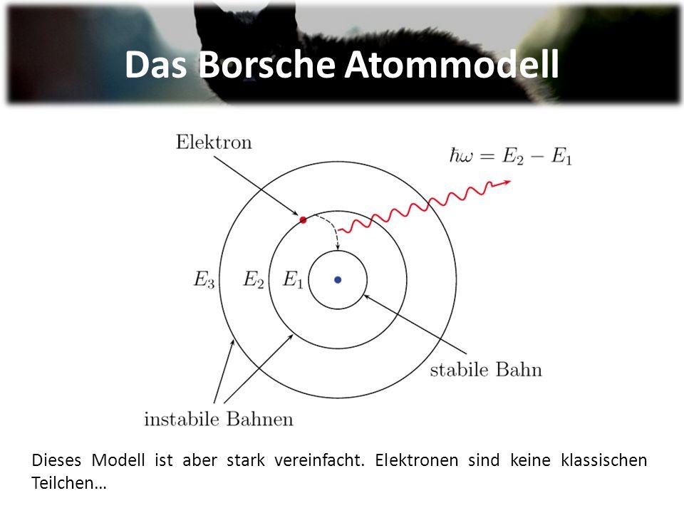 Das Borsche Atommodell Dieses Modell ist aber stark vereinfacht.