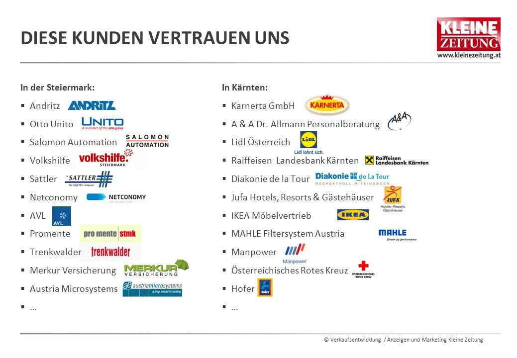 © Verkaufsentwicklung / Anzeigen und Marketing Kleine Zeitung In Kärnten:  Karnerta GmbH  A & A Dr.