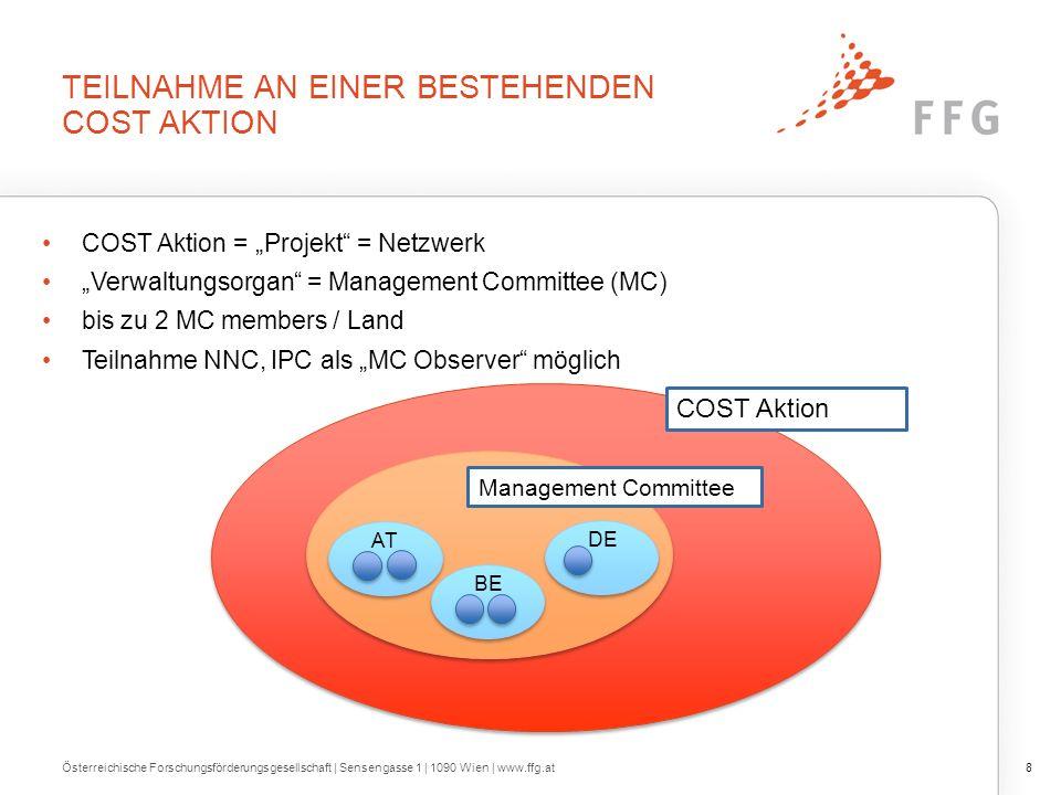 KONTAKT Österreichische Forschungsförderungsgesellschaft | Sensengasse 1 | 1090 Wien | www.ffg.at29 Nicole Schmidt (CNC, Expertin) nicole.schmidt@ffg.at 057755-4105 Gudrun Seyr (Assistentin) gudrun.seyr@ffg.at 057755-4111