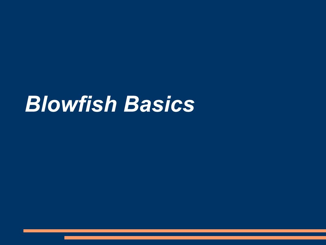Blowfish Basics