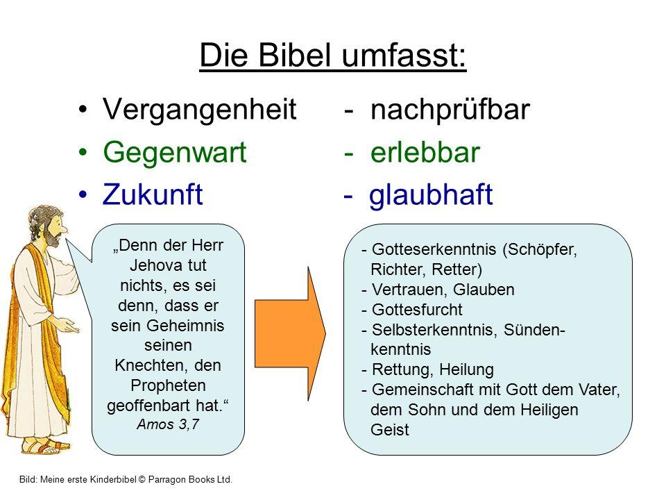 """Die Bibel umfasst: Vergangenheit- nachprüfbar Gegenwart - erlebbar Zukunft - glaubhaft """"Denn der Herr Jehova tut nichts, es sei denn, dass er sein Geh"""