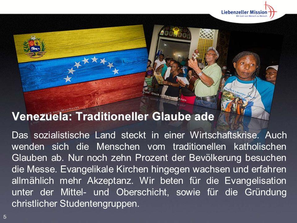 Venezuela: Traditioneller Glaube ade Das sozialistische Land steckt in einer Wirtschaftskrise.