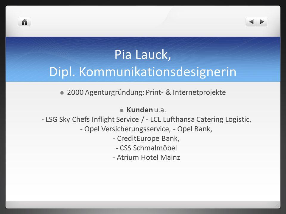 Pia Lauck, Dipl.