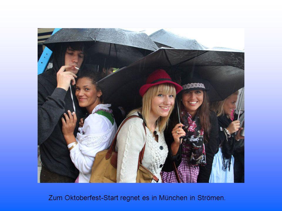 An diesem Samstag haben die Münchner nur ein Ziel: Die Theresienwiese. Bereits im Morgengrauen ist dort einiges los.