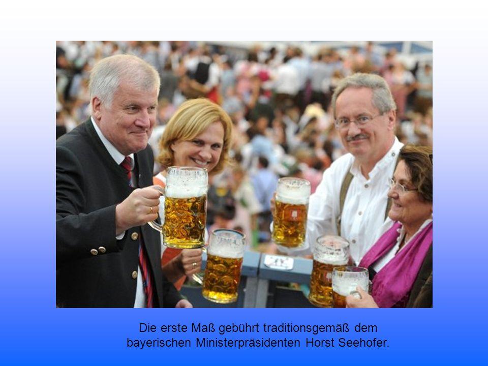 """""""Ozapft is beim Oktoberfest 2012 Ude schickt München mit zwei Schlägen in den 16-Tage-Rausch"""