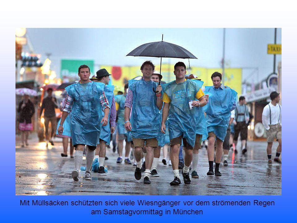 Die erste Maß gebührt traditionsgemäß dem bayerischen Ministerpräsidenten Horst Seehofer.