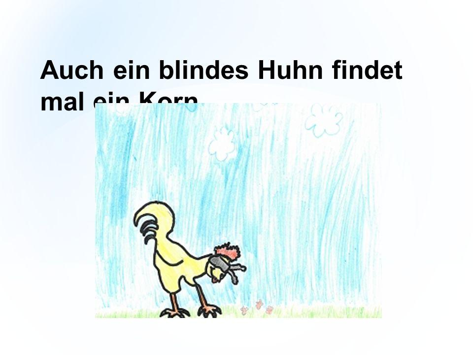 Auch ein blindes Huhn findet mal ein Korn.