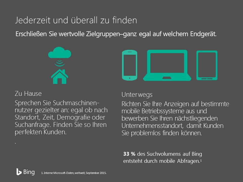 Integration von Bing ebnet den Weg 1,5 Mrd.Benutzer verwenden Windows jeden Tag.