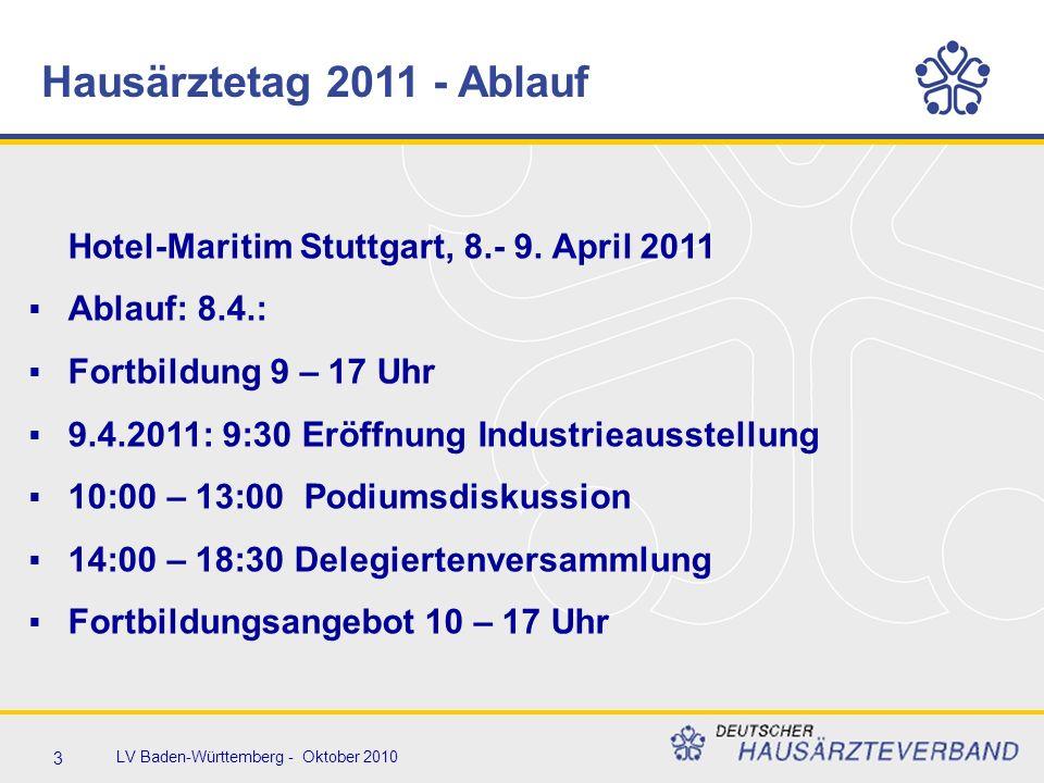 4 LV Baden-Württemberg - Oktober 2010  Teilnehmergebühren wie 2010  Tagespauschale € 30.- Nichtmitglied: € 50.-  Komplettpauschale € 50.- € 80.-  MFA € 0.- € 20.-  10% Rabatt Buchung Komplettpauschale bis 15.3.