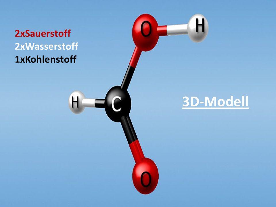 3D-Modell 2xSauerstoff 2xWasserstoff 1xKohlenstoff