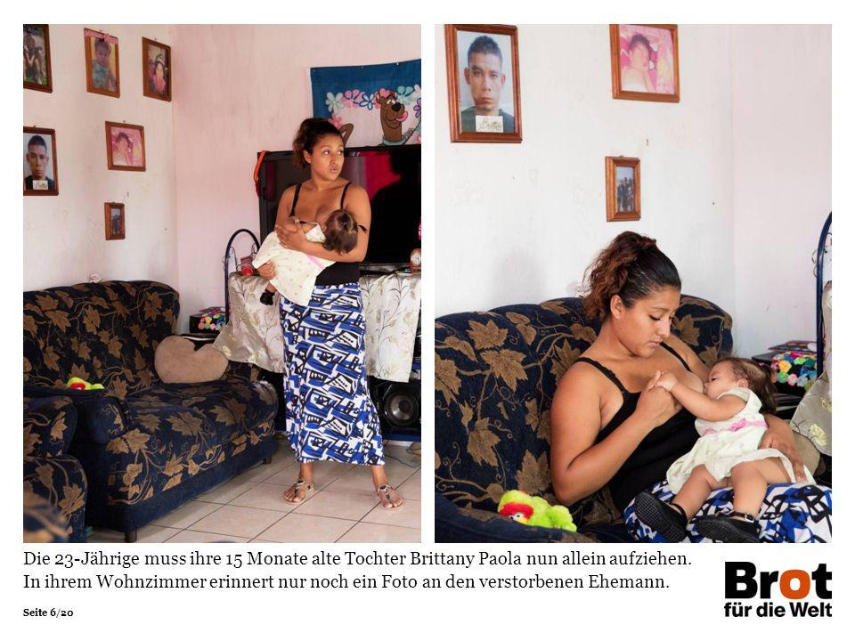 Seite 6/20 Die 23-Jährige muss ihre 15 Monate alte Tochter Brittany Paola nun allein aufziehen.