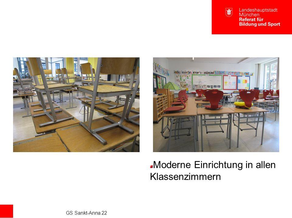 GS Sankt-Anna 22 Moderne Einrichtung in allen Klassenzimmern