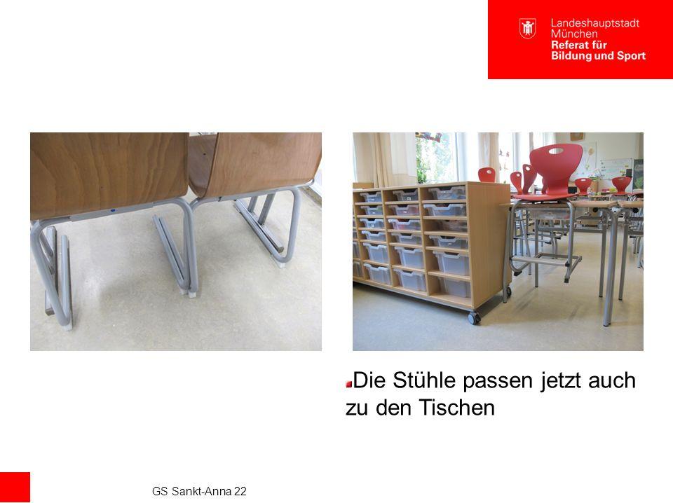 GS Sankt-Anna 22 Die Stühle passen jetzt auch zu den Tischen