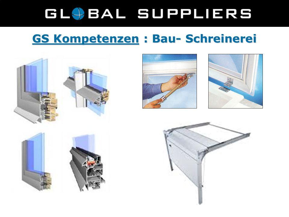 GS Kompetenzen : Bau- Schreinerei