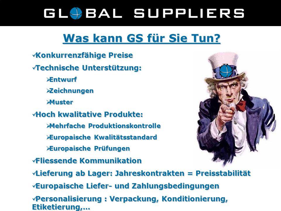 Was kann GS für Sie Tun? Konkurrenzfähige Preise Konkurrenzfähige Preise Technische Unterstützung: Technische Unterstützung:  Entwurf  Zeichnungen 
