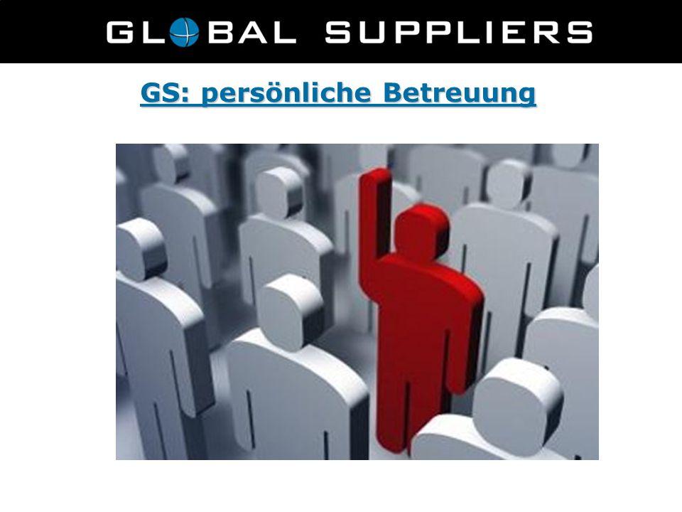 GS: persönliche Betreuung