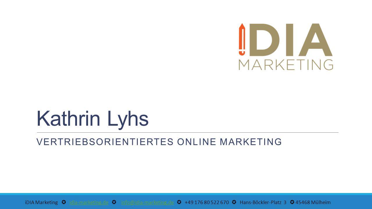 ✪ idia-marketing.de ✪ info@idia-marketing.de ✪ +49 176 80 522 670 ✪ Hans-Böckler-Platz 3 ✪ 45468 Mülheim ✪idia-marketing.deinfo@idia-marketing.de VERTRIEB & MARKETING IM DOPPELPACK