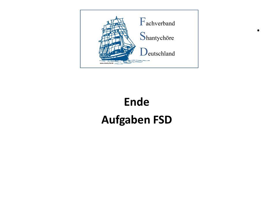 . Ende Aufgaben FSD
