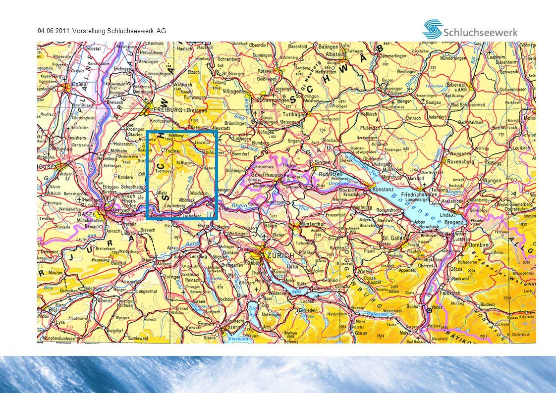 04.06.2011 Vorstellung Schluchseewerk AG Übersichtsplan