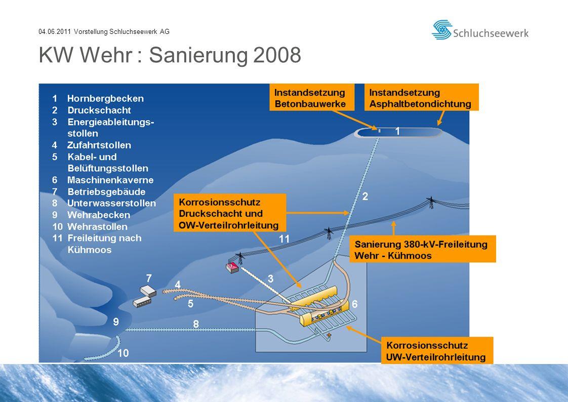 04.06.2011 Vorstellung Schluchseewerk AG KW Wehr : Sanierung 2008