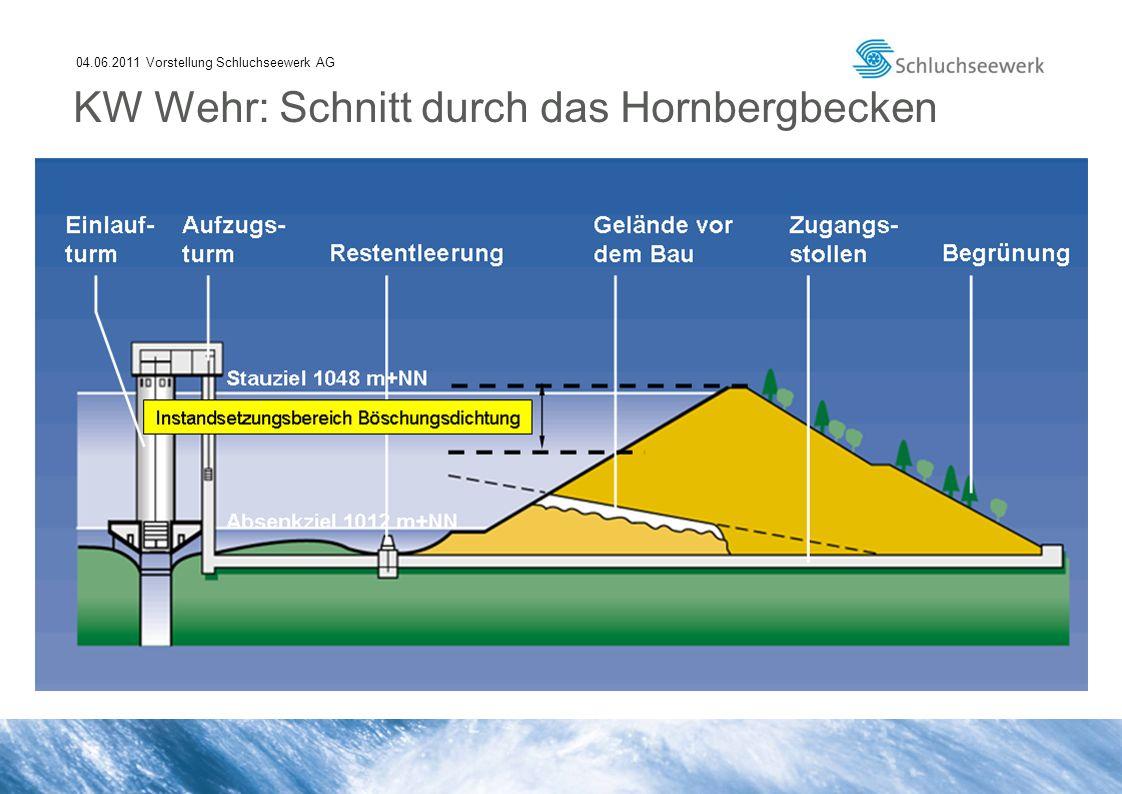 04.06.2011 Vorstellung Schluchseewerk AG KW Wehr: Schnitt durch das Hornbergbecken