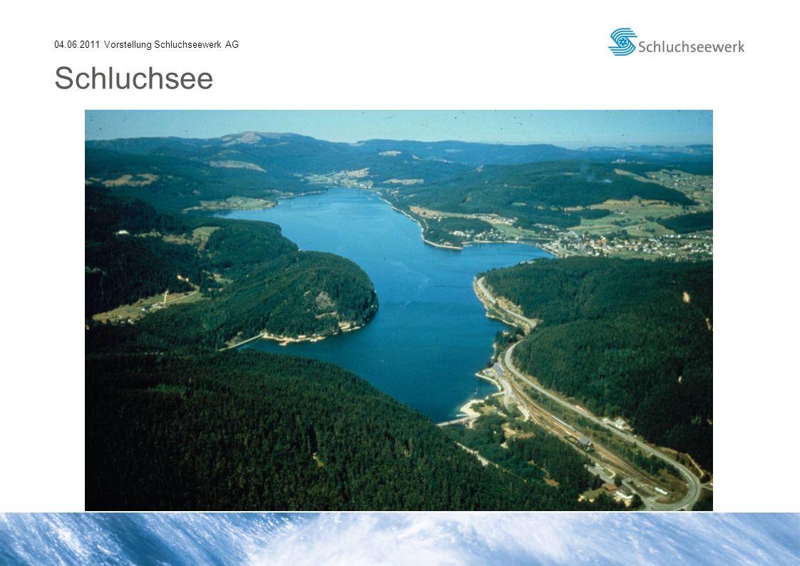 04.06.2011 Vorstellung Schluchseewerk AG Erzeugung der Schluchseewerk AG seit Inbetriebnahme KW Häusern