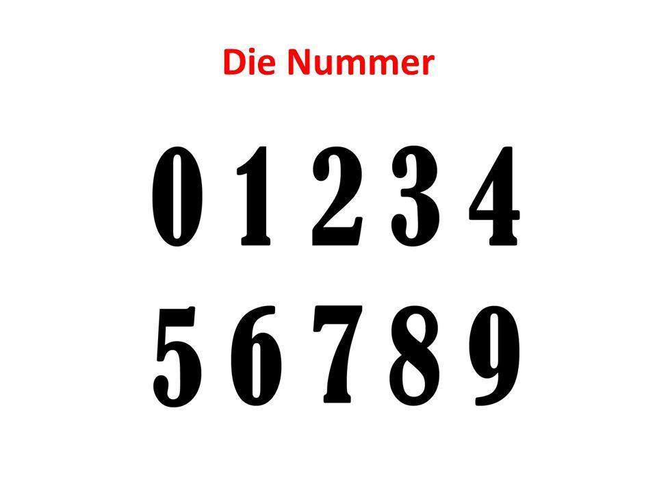 Die Nummer