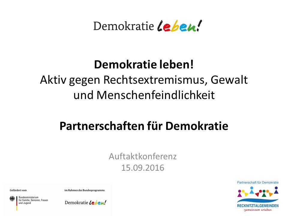 Demokratie leben.