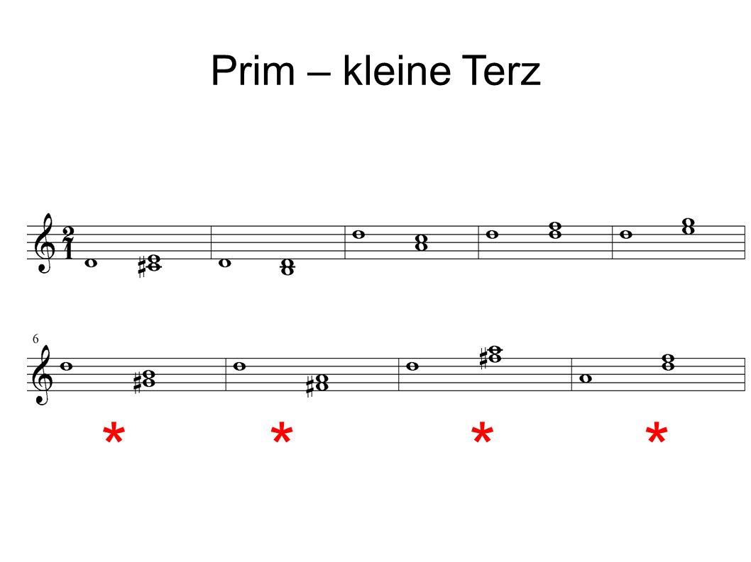 Prim – kleine Terz ****