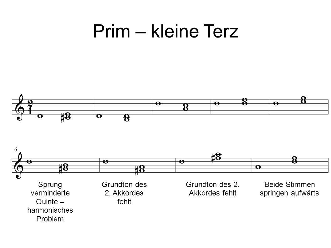 Sprung verminderte Quinte – harmonisches Problem Grundton des 2.