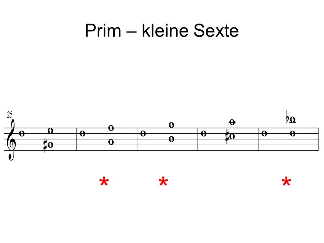 Prim – kleine Sexte ***