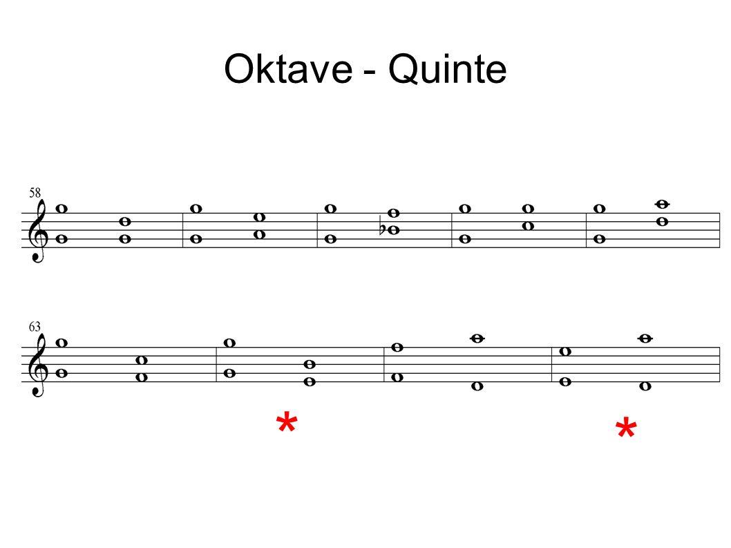 Oktave - Quinte * *