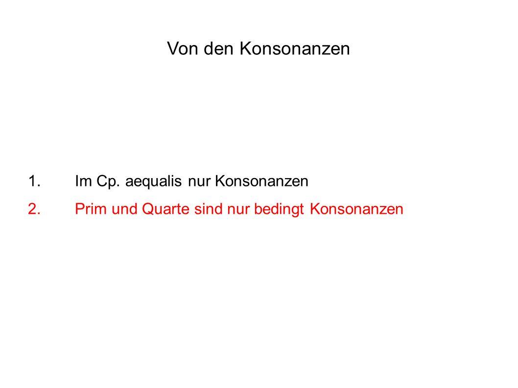 Von den Konsonanzen 1. Im Cp.