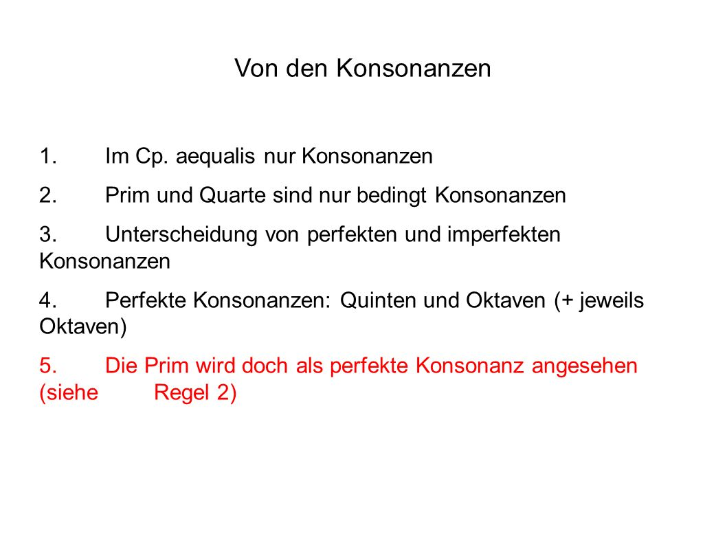 Von den Konsonanzen 1.Im Cp.